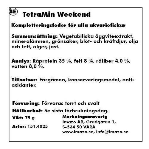 Tetramin Weekend 20tabletter