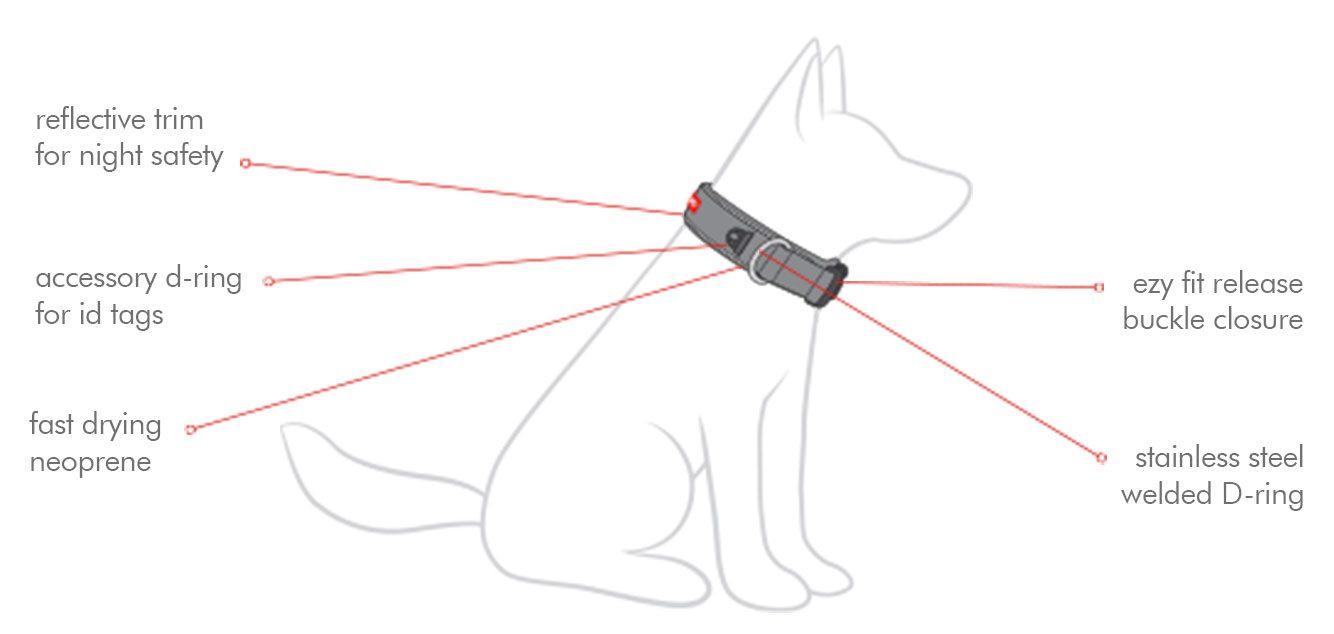 ezydog neo collar refleks hundehalsbånd