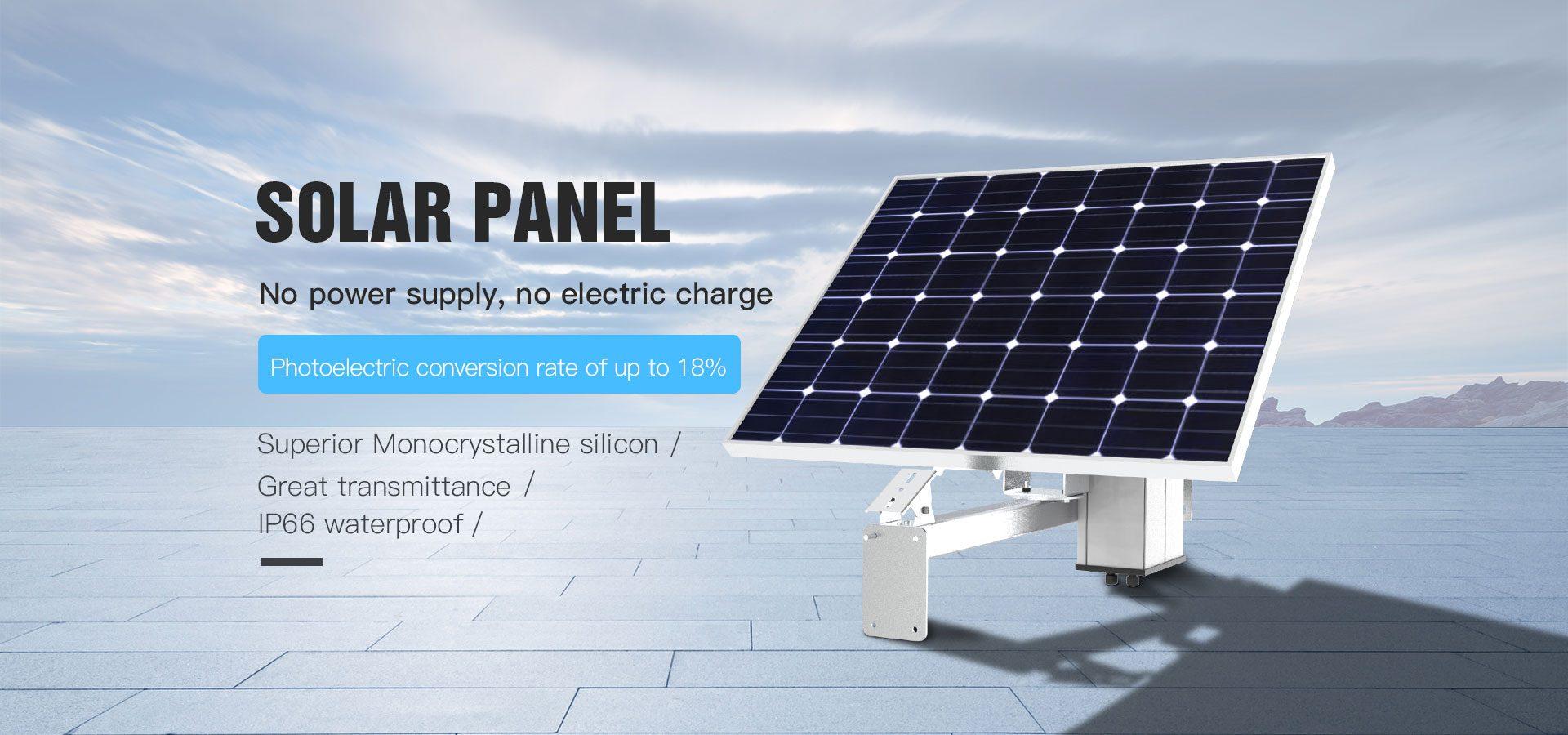 solcellepanel 60W med 20Amp batteri